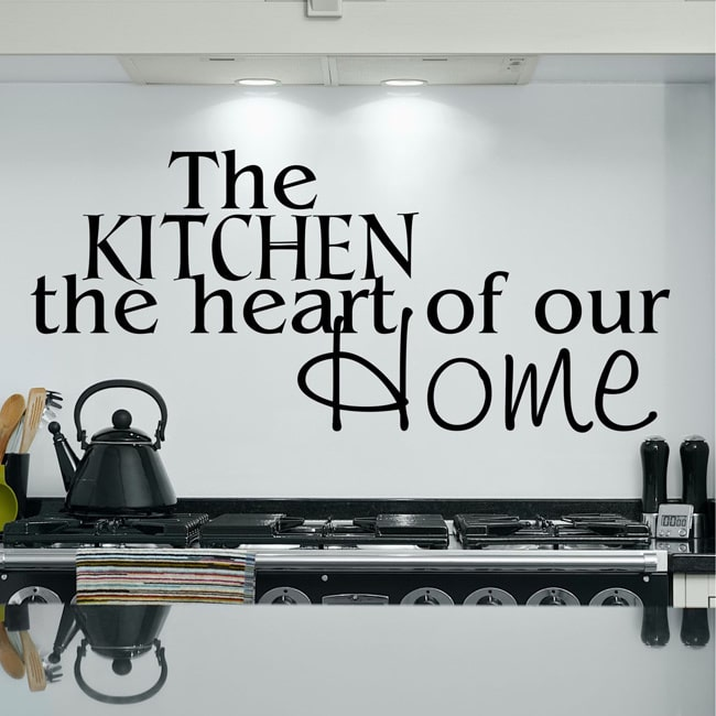 Everything Vinyl Decor The Kitchen, the heart of our home Inspirational Vinyl Wall Art