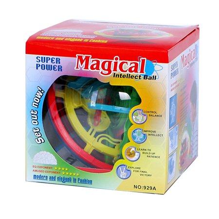3D Magic Maze Ball 100 Levels Intellect Rolling Ball Puzzle Game Brain Teaser Bay Kids Preschool Toys - image 3 de 6