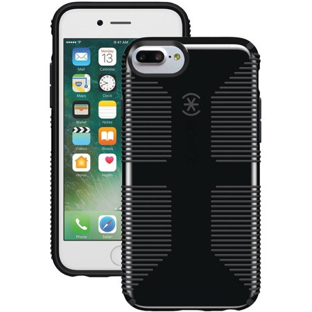 info for bf7c2 e2117 Speck CandyShell Grip Case for iPhone 7 Plus, Black/Slate Gray