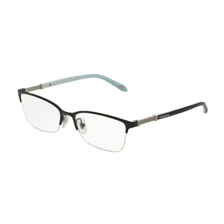 Tiffany Optical 0TF1111B Full Rim Cat Eye Womens Eyeglasses - Size 53 (Black / Clear Lens)