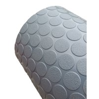 G-Floor Garage Floor Cover / Protector  60 Mil Small Coin 5' x 10' in Slate Grey