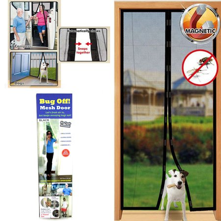 Instant Mesh Screen Door Magnetic Hands Free Bug Mosquito Fly Pet