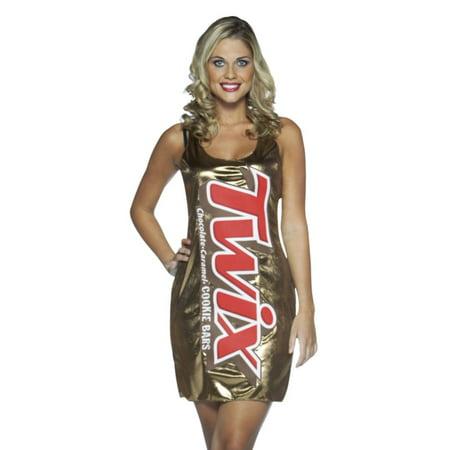 Rasta Imposta Womens Twix Costume Candy Bar Tank Dress - Rasta Woman Costume