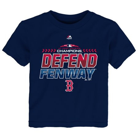 Boston Red Sox Majestic Toddler 2018 AL East Division Champions Locker Room T-Shirt - Navy