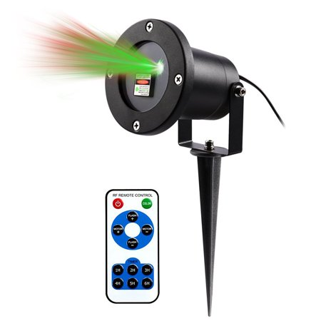 4EverShine Magical Outdoor and Indoor Christmas Laser Light, Gives Off Brilliant Lights with Green and Red Star Patterns, Black (Green and Red Lights)](Laser Stars)