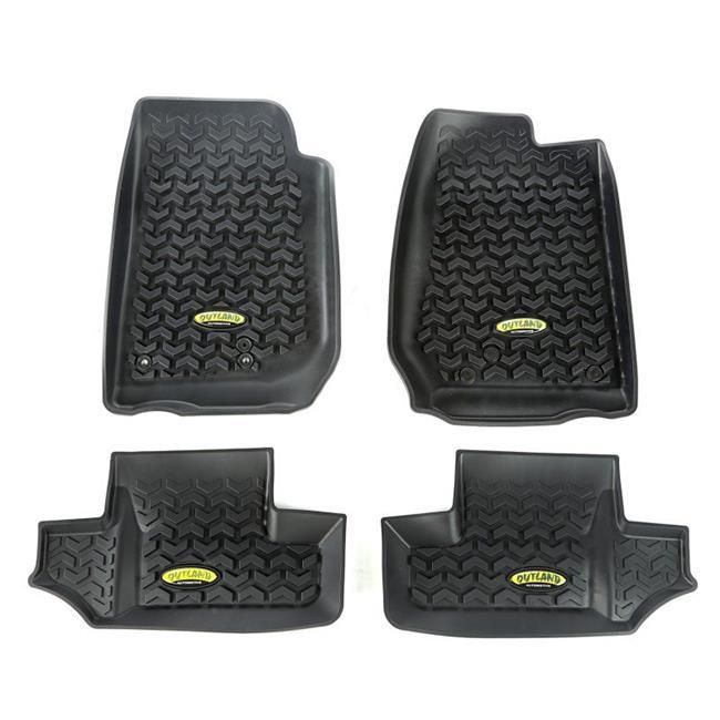 Omix Ada 391298703 Floor Liner Kit, Black, 07-16 Jeep 2-Door Wrangler - image 1 de 1