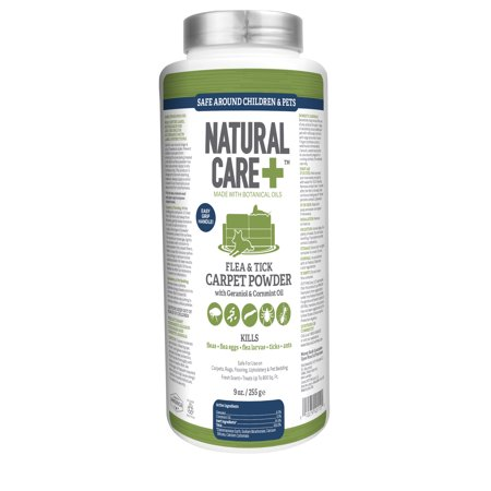 Natural Care Flea And Tick Carpet Powder 9 Oz Cannister