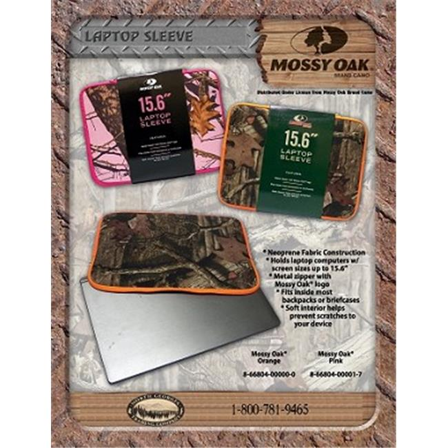 Fierce MO-LS-P Mossy Oak Neoperene Laptop Sleeve – Pink Camo and Pink trim