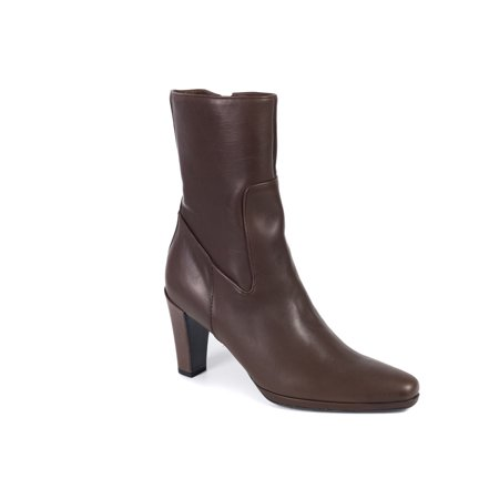Car Shoe By Prada Brown Leather Mid Calf Boots
