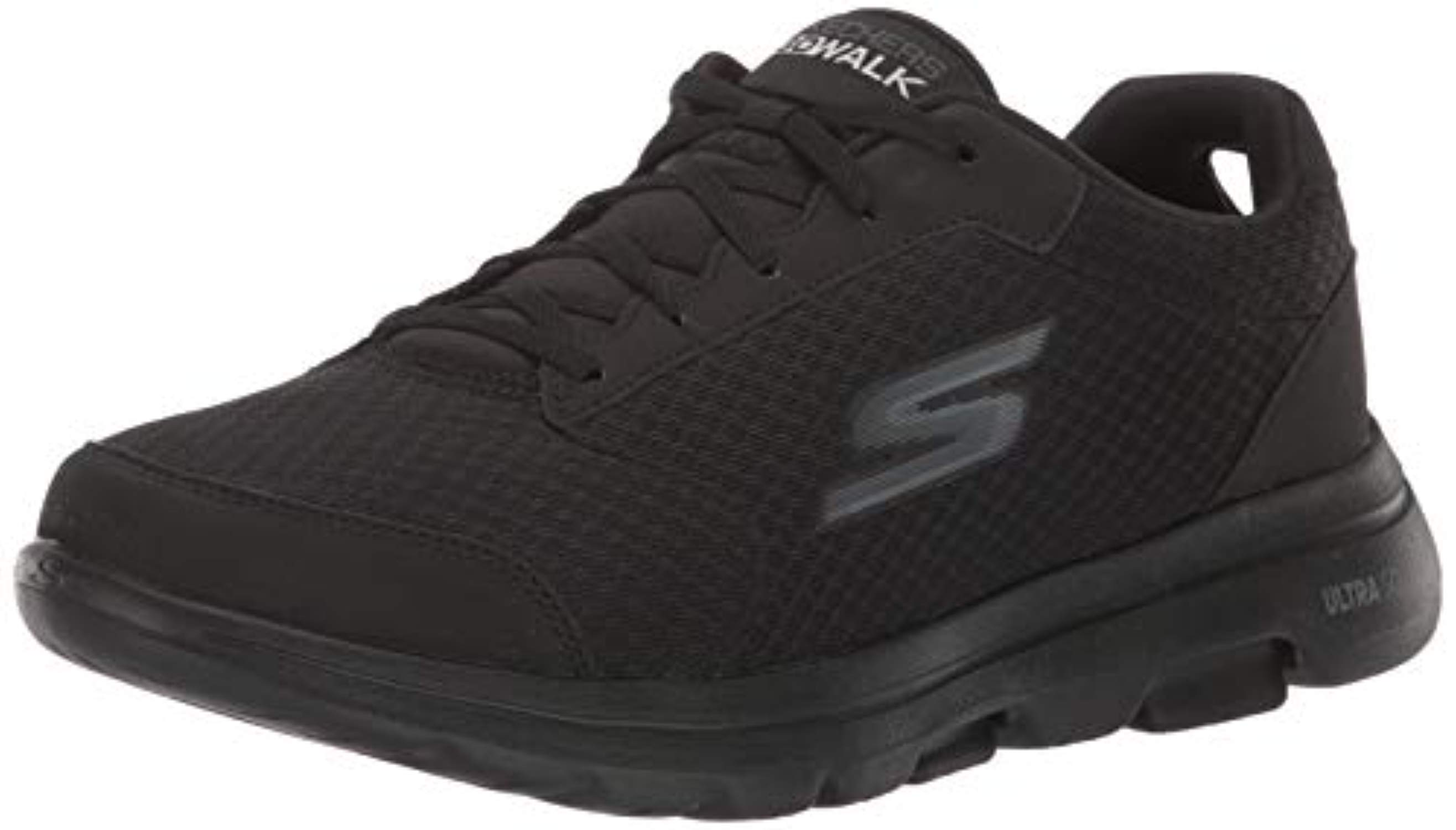 Skechers Skechers Men's GO Walk 5 Qualify Shoe, Black, 10.5 Extra Wide US