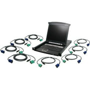 Iogear 8-Port LCD Combo KVM Switch with USB KVM Cables
