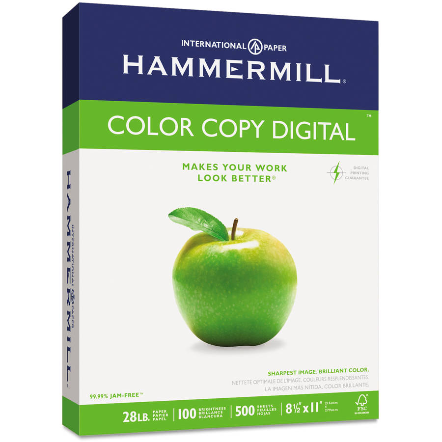 "Hammermill Color Copy Paper, 100 Brightness, 8.5"" x 11"", Photo White, 500 Sheets"