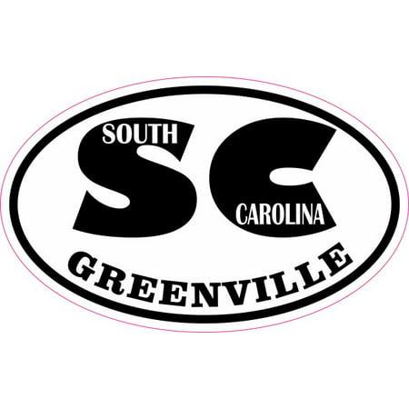 4in x 2.5in Oval SC Greenville South Carolina Sticker](Halloween Stores In Greenville Sc)