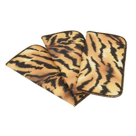 2 Pack Tiger Print Fabric Soft Eyeglass Cases for Women, Fits Medium
