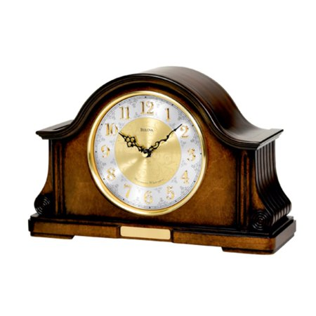 Bulova Chadbourne Tambour Mantel Clock (Halloween Mantel Decor)
