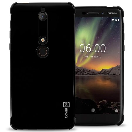 CoverON Nokia 6 (2018) / Nokia 6.1 (2018) Case, FlexGuard Series Soft Flexible Slim Fit TPU Phone