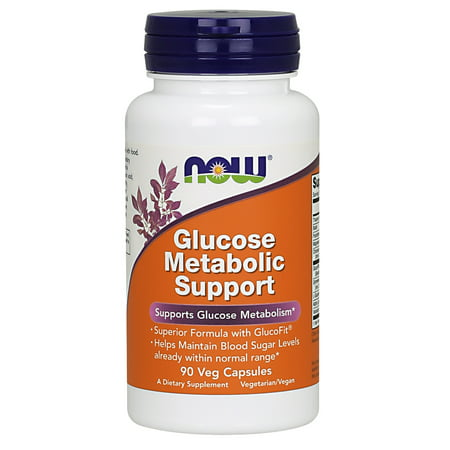 NOW Supplements, Glucose Metabolic Support, a Superior Formula with GlucoFit®, 90 Capsules