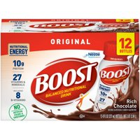 BOOST ORIGINAL Rich Chocolate 12-8 fl. oz. Bottles