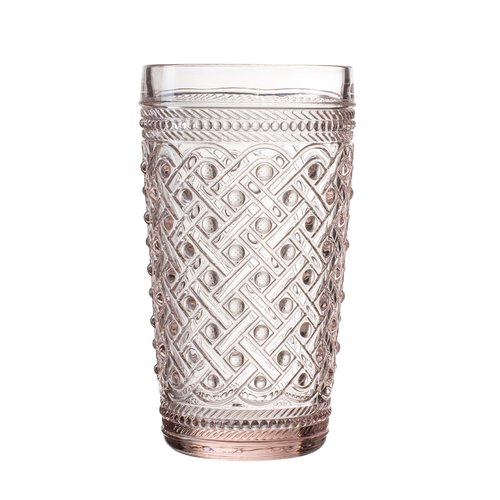 Elle Decor Bistro Ikat Glass Highball Glass (Set of 4)