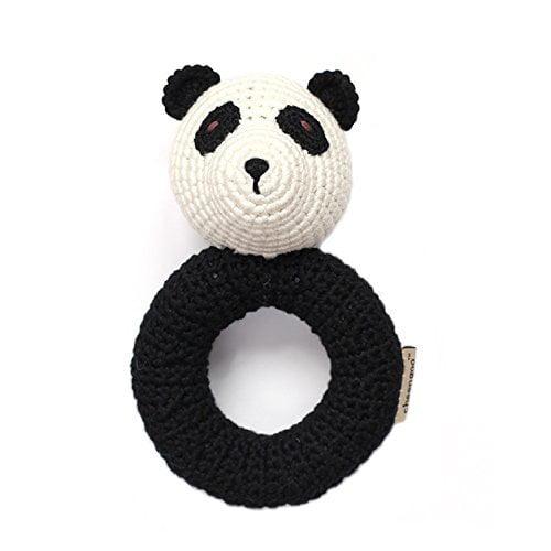 Organic Newborn Toys Panda Baby Rattle by Cheengoo