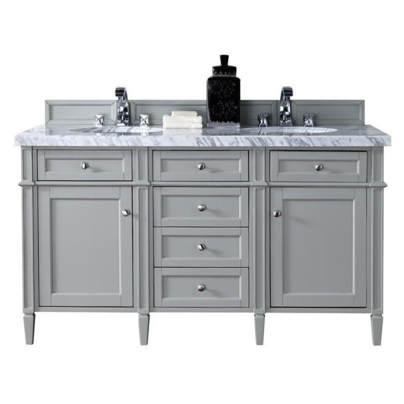 "James Martin Brittany 60"" Double Bathroom Vanity in Gray"