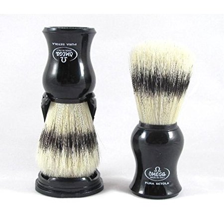 Omega Bristle Shave Brush With Stand  Ship From U S  Brand Jag