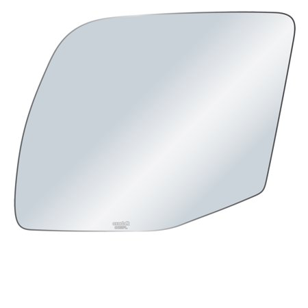 Exactafit 8651PL Driver Left Side Mirror Glass Replacement Kit Fits Ford Econoline E150 E250 E350 (Ford E450 Super Duty Mirror)