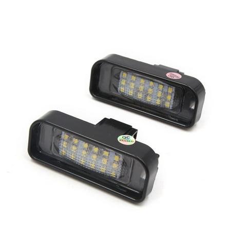 2pcs 13.5V Black Shell Auto Car 18 LED White License Plate Light Lamp for Benz - image 3 of 3