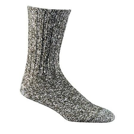 Fox River Raggler Cotton And Wool Blend Crew Cut Socks, Medium, Loden Tweed