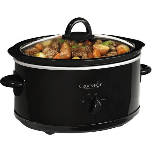Crock-Pot 7-Quart Slow Cooker, Black