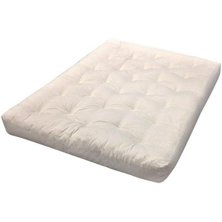 Single Foam Cotton Futon Mattress 44 Natural