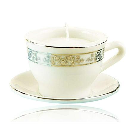 Kate Aspen Teacups & Tea Lights Miniature Porcelain Tea Light Holder, Perfect Wedding Favors, Bachelorette Favors, Baby Shower Favors or Bridal Shower Favors - 6
