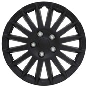 All Black 16 in. Indy Wheel Cover Set (Set of 4 Covers)