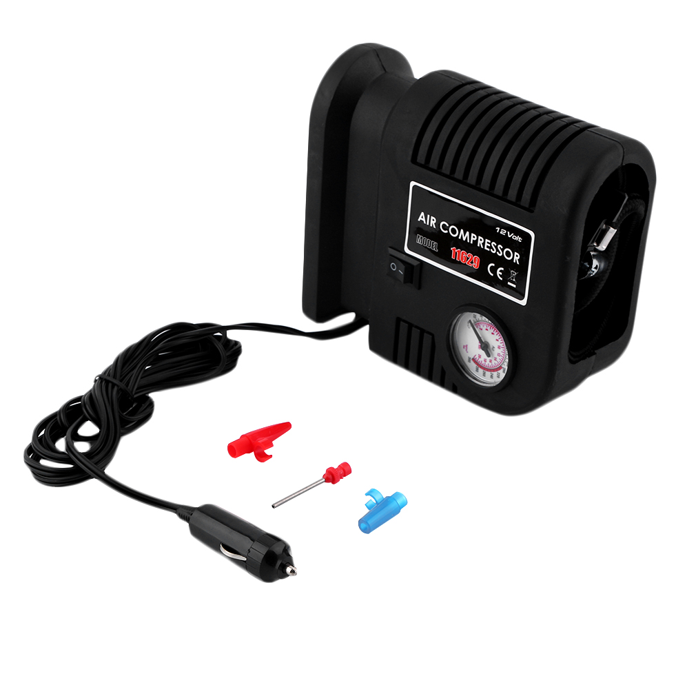 Portable Auto Vehicle Air Compressor Pump Tire 12V And 3 Adapter Tyre Inflator For Automobile