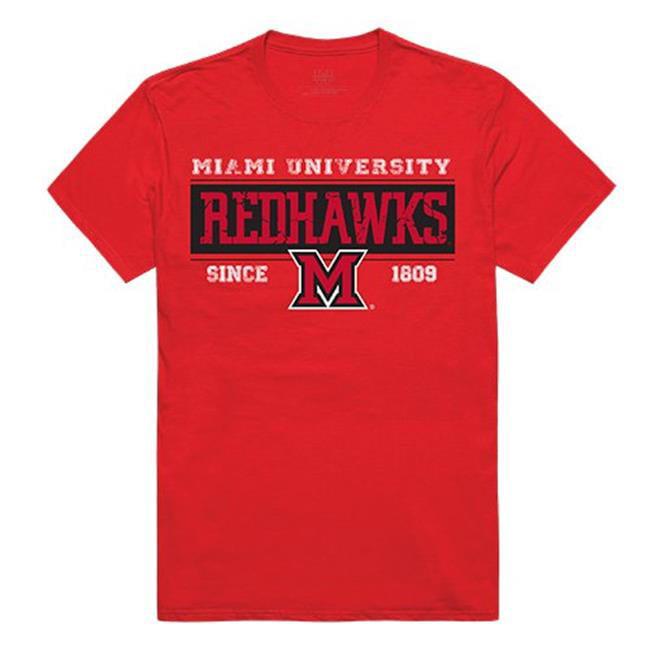 W Republic Apparel 507-131-R58-04 Miami Ohio Established Mens Tee, Red - Extra Large - image 1 de 1