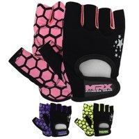 MRX Women's Weight Lifting Gloves Gym Training Bodybuilding Workout Glove Pink Star M
