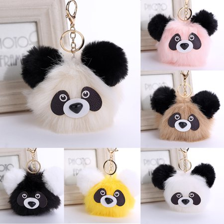 Directer - Directer Cute Panda Pattern Soft Plush Handbag Phone Car Pendant  Girls Keychain Key Ring - Walmart.com 05f0d76bda