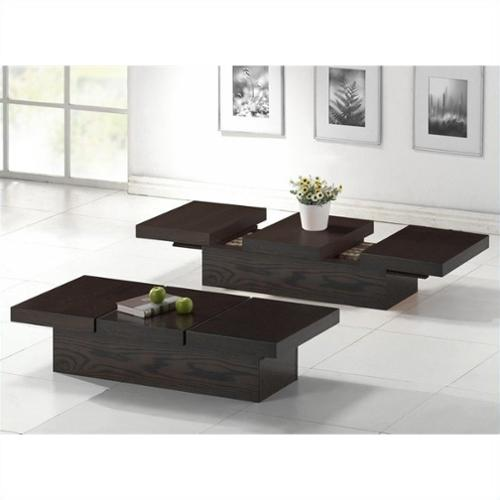 Baxton Studio Cambridge Coffee Table in Dark Brown