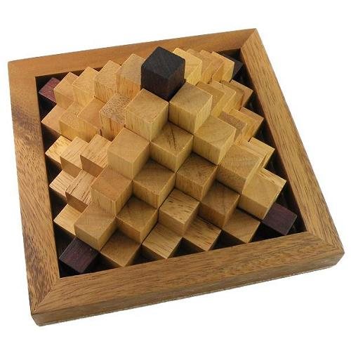 Steps Pyramid Wooden Puzzle Brain Teaser by Winshare Puzzles and Games