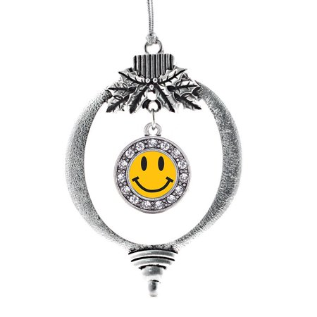 - Smiley Face Circle Holiday Ornament