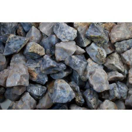 Fantasia Crystal Vault: 1/2 lb Blue Quartz Rough Stones from Madagascar - Large 1