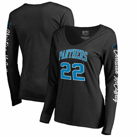 Christian McCaffrey Carolina Panthers NFL Pro Line by Fanatics Branded  Women s Heartthrob Name   Number V-Neck T-Shirt - Black - Walmart.com 27d5bb1fabd8