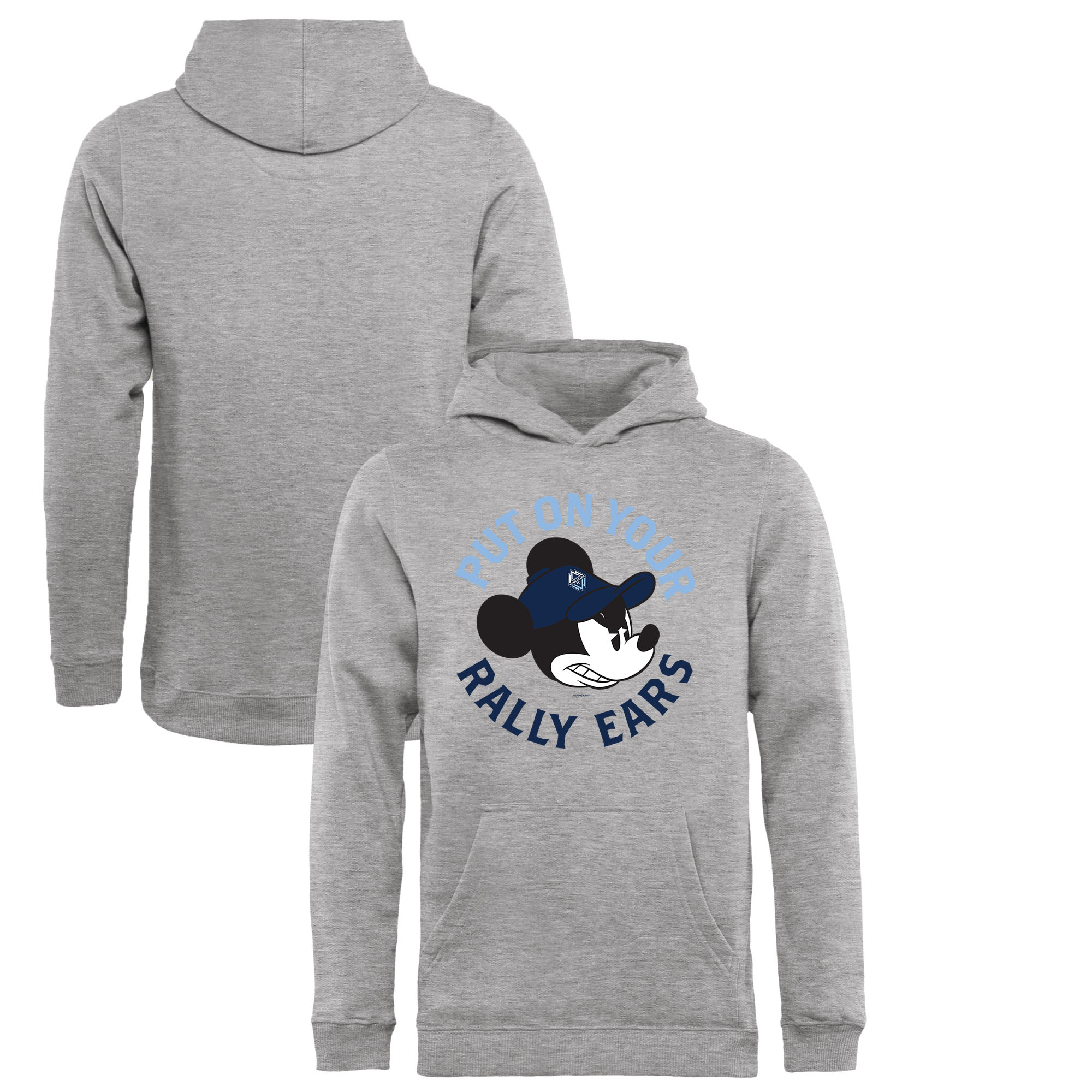 Vancouver Whitecaps FC Fanatics Branded Youth Disney Rally Ears Pullover Hoodie - Heathered Gray