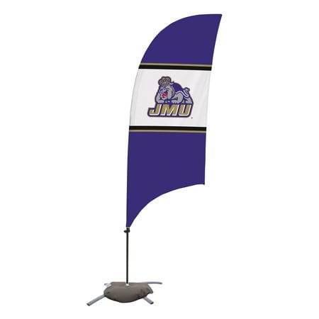 James Madison Dukes 7.5' Razor Feather Stake Flag with Base - No Size