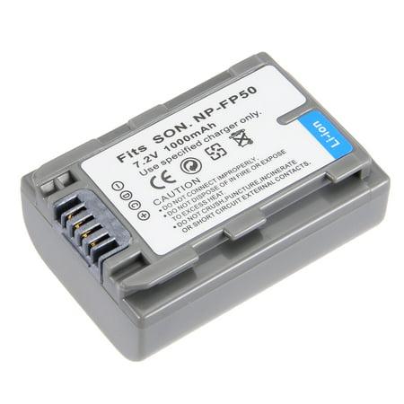 (Unique Bargains 7.2V 1000mAh NP-FP50 Li-ion Battery Pack for Digital Video Camera)