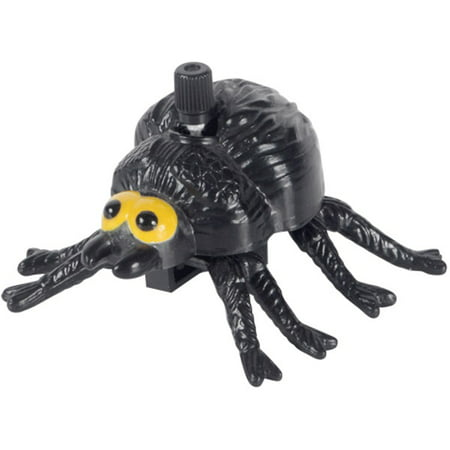 Loftus Halloween Wind-Up Moving Spider Wind-Up Toy, Black Yellow, 12 Pack - Halloween Spider Rings Bulk