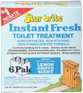 Star Brite Instant Fresh Toilet Treatment Lemon Grove Scent - 6 Pack 71761