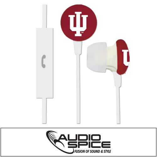 Indiana Hoosiers Ignition Earbuds + Mic