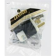 Leviton 5466-C 20 Amp, 250 Volt, Plug, Straight Blade, Industrial Grade, Grounding, Black-White
