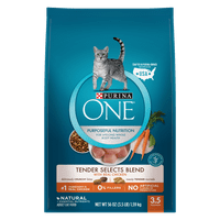 Purina ONE Tender Selects Blend With Real Chicken Adult Dry Cat Food - 3.5 lb. Bag